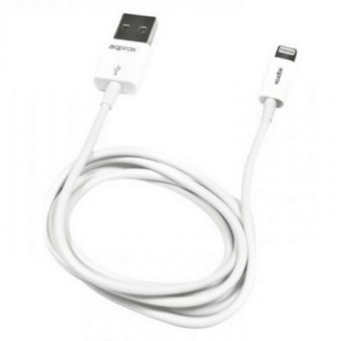 Approx (APPC32) 2-in-1 Lightning Cable, USB to Lightning/Micro USB, 1 Metre, White, Not Apple Certif